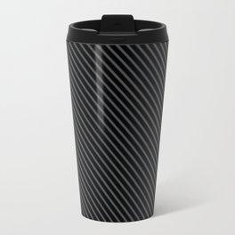 Dark Shadow and Black Stripe Travel Mug