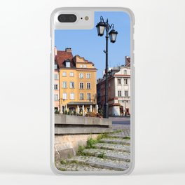 Houses in the Old Town of Warsaw Clear iPhone Case