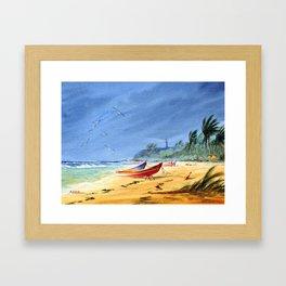 Puerto Rico Maunabo Beach Framed Art Print