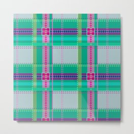 Ugh Plaid Metal Print