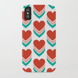 Sweethearts (Red, Pink & Turquoise) iPhone Case