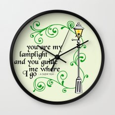 You Are My Lamplight (commission) Wall Clock