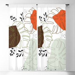Adam's Rib Abstract Illustration Blackout Curtain