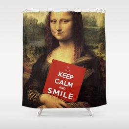 Mona Lisa's Theme Of Life Shower Curtain