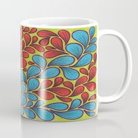 good vibes Mugs featuring Good Vibes by Sarah J Bierman