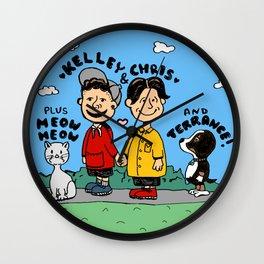 Chris and Kelley (Peanuts Homage) Wall Clock