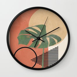 Nature Geometry I Wall Clock