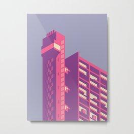 Trellick Tower London Brutalist Architecture - Plain Lavender Metal Print