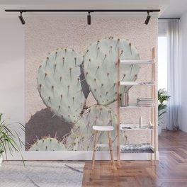 Pear Cactus on Blush Wall Mural