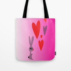Lovy Bunny Tote Bag
