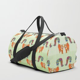 A Cat Sprouting Flowers Duffle Bag