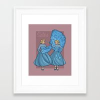 sisters Framed Art Prints featuring Sisters by Karen Hallion Illustrations