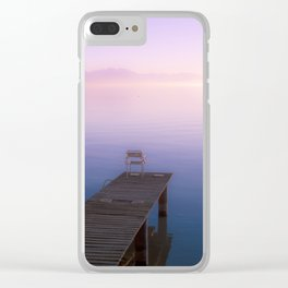 Infinite Sunset - Landscape Photography Clear iPhone Case
