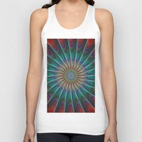 fractal Tank Tops featuring Peacock fractal by David Zydd