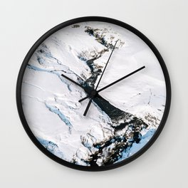 River in winter in Iceland - Landscape Photography Wall Clock