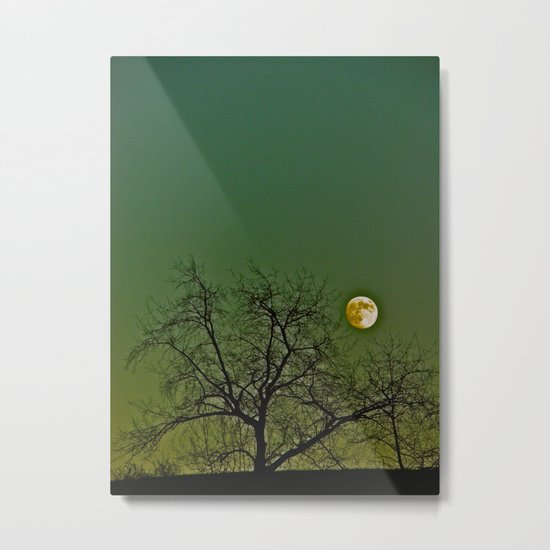 Tangled Tree Moon Metal Print