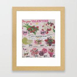 Unconditional Love / Valentine Framed Art Print