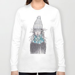 Winter Girl (Blue) Long Sleeve T-shirt