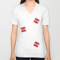 sticker V-neck T-shirts featuring Fail Sticker by DonMc