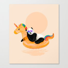 Chillin (Unicorn Panda) Canvas Print