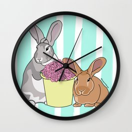 Willow and Charlie Wall Clock