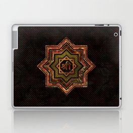 Red Gemstone and gold  Star of Lakshmi -  and Sri Laptop & iPad Skin