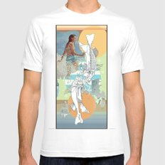 skeleton surf Mens Fitted Tee White MEDIUM