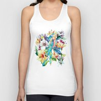 parrot Tank Tops featuring PARROT by RIZA PEKER