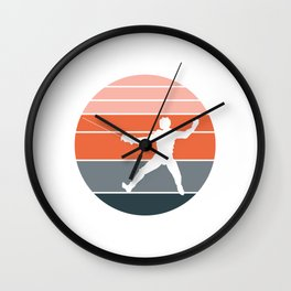 A Nice German Fencing Tee For Fencers Silhouette Of A Retro Fencer T-shirt Design Attack Defense Wall Clock