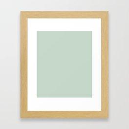 Stylish grey and light green. Framed Art Print
