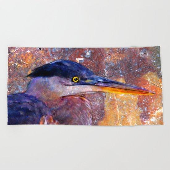 Heron-2 Beach Towel