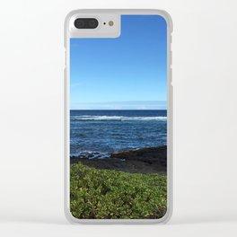 Oahu Ocean side Clear iPhone Case