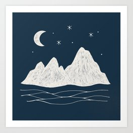 sonoran night Art Print