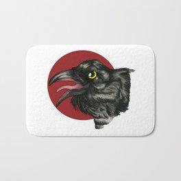 Red Moon Crow Bath Mat