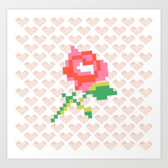 Cross Stitch Art Print