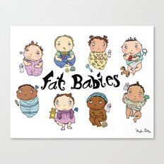 Fat Babies Canvas Print