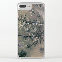 Queen Anne's Lace Vintage Landscape Clear iPhone Case