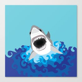 Great White Shark Attack Canvas Print