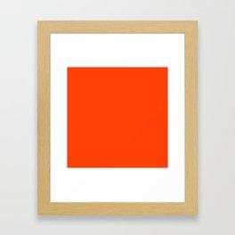 Bright Fluorescent Neon Orange Framed Art Print