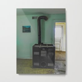 Relic in an Abandoned Home Metal Print