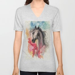 Rainbow Aura Unisex V-Neck