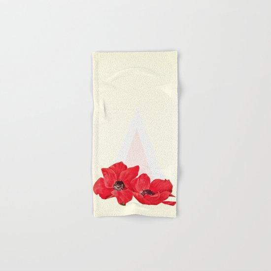Floral Triangle Hand & Bath Towel