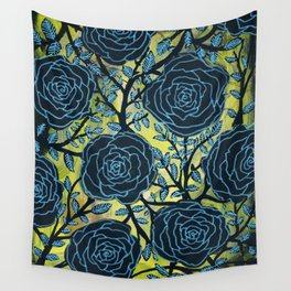 Black and Blue Wall Tapestry