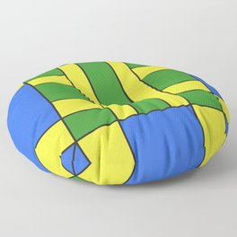 They were all yellow... blue and green Floor Pillow