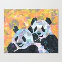 pandas Canvas Prints featuring Pandas by DanielleArt&Design