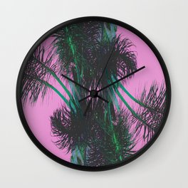 Chroma Palms Wall Clock