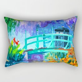 Tardis Art And The Bridge Rectangular Pillow