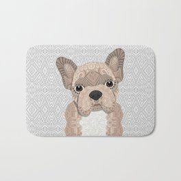 Beige Frenchie Puppy 001 Bath Mat