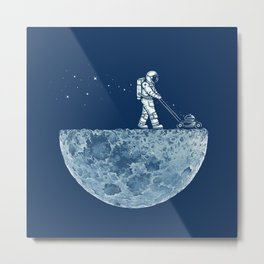 cleaning the moon Metal Print