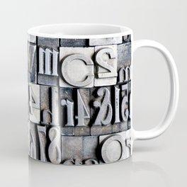 Letterpress Coffee Mug